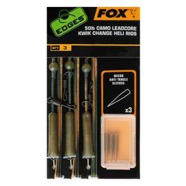 MONTURA FOX CAMO LEADCORE KWIK CHANGE HELI RIG 3BUC/SET 50lb